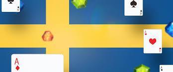 Svensk flagga, spelkort och ädelstenar